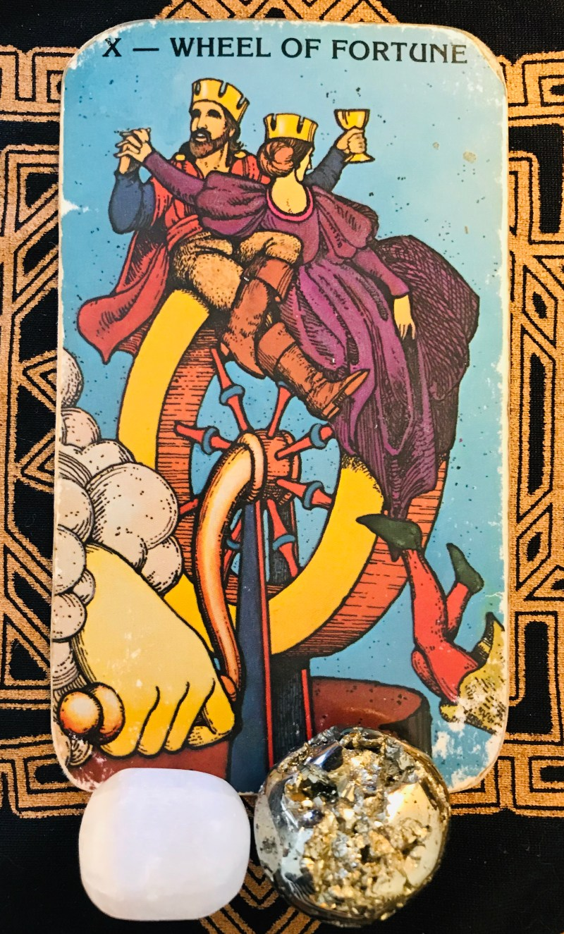 New Energy, wheel of fortune tarot card.