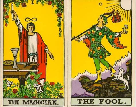 Fool & Magician - Rider Waite Smith