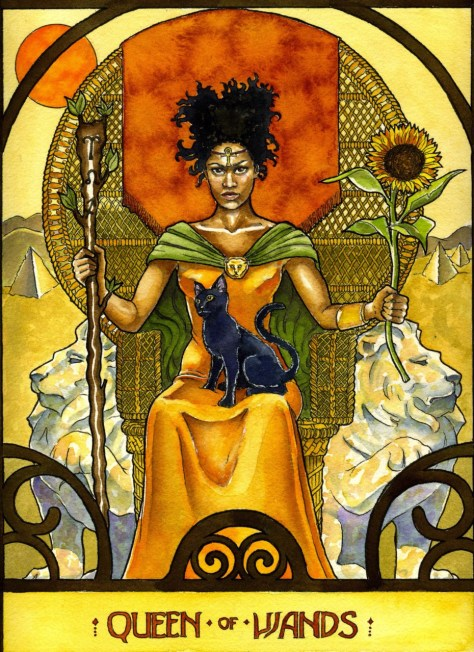 Queen of Wands -Winona Cookie Illustration