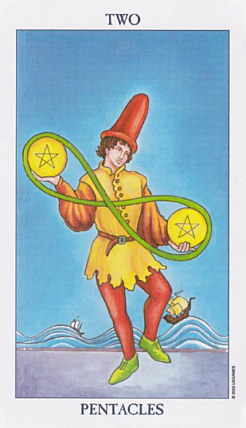 2 of Pentacles - radiant rider-waite deck