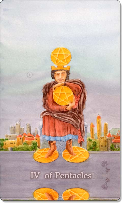 Image of The Four of Pentacles card