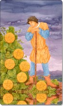 Image of The Seven of Pentacles card