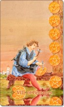 Image of The Eight of Pentacles card