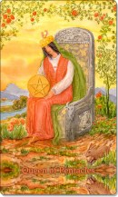 Image of The Queen of Pentacles card