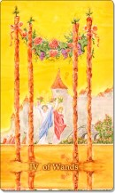 Image of The Four of Wands card