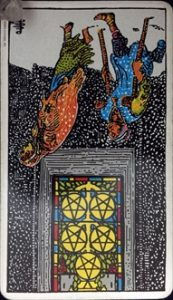five of pentacles reverse
