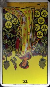 Nine of Pentacles reverse