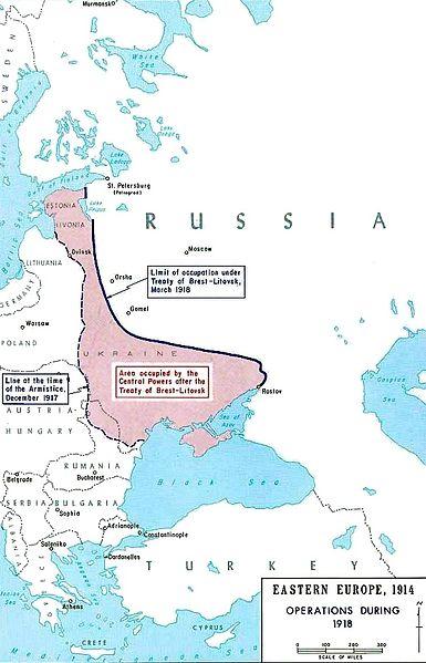 Brest-Litovsk map