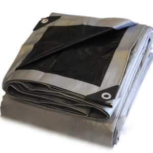 Heavy Duty Silver/Black Poly tarp
