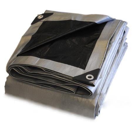 Heavy Duty Silver/Black Poly tarp