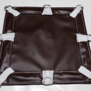 Heavy-duty brown vinyl tarp with d-rings