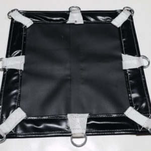 Heavy-duty black vinyl with d-rings