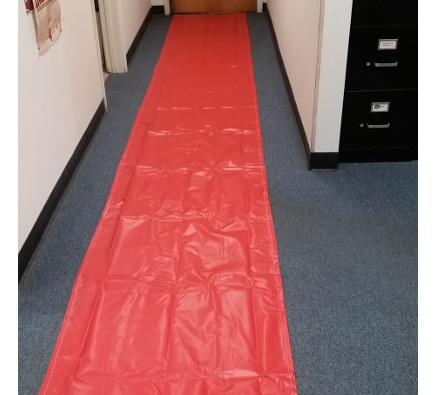 Protects hallways from foot traffic.