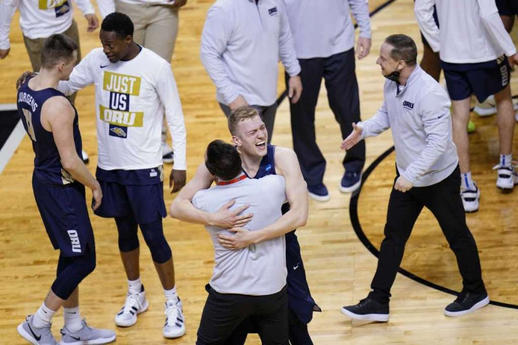 Oral Roberts Celebrating After Win