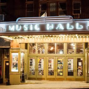 The Music Hall, Tarrytown, NY - exterior at night