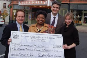 Stephen Ballas (past President), NYS Senator Andrea Stewart-Cousins, Bjorn Olsson (Executive Director) and Karina E Ringeisen.