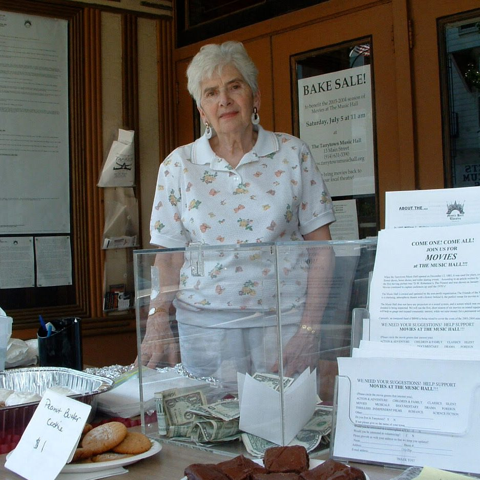 Volunteer Marge Maguill championing the cause of a film comeback in 2004.