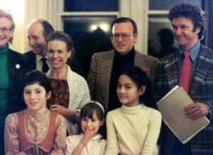 The nonprofit Friends of the Mozartina purchased the theater on Valentine's Day, 1980. Founding Board Members l to r: Berthold F Ringeisen (Treasurer), Helen Ringeisen (Secretary), Morton Epstein (Vice-President) & Raymond Bowles (President)
