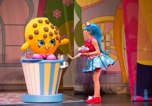 Shopkins on stage.