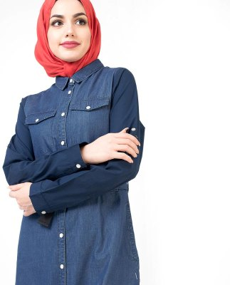 2018-Abayas-In-Pakistan-Denim-Abaya-Turkish-Coat-Jilbab-Abaya-Islamic-Clothing