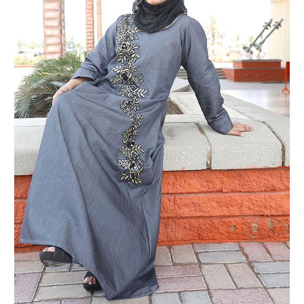 Buy-Front-Embroidered-Denim-Abaya-Online-In-Pakistan...