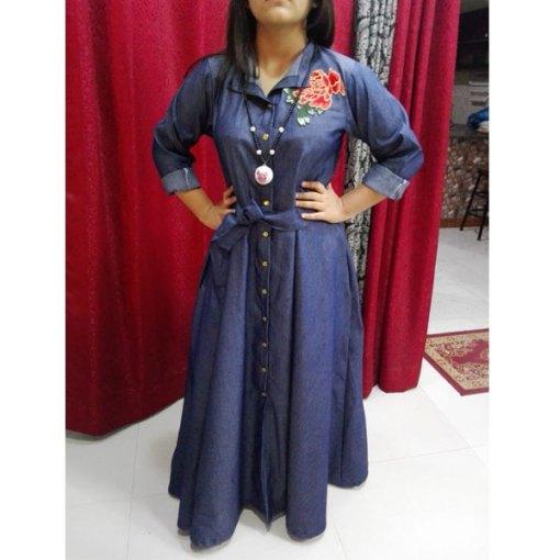 Embroidered-Denim-Abaya-For-Women-2019-New-Design-Abaya