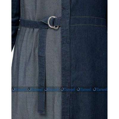 Reversible Denim Abaya Fashionable Abaya With Waist Belt.