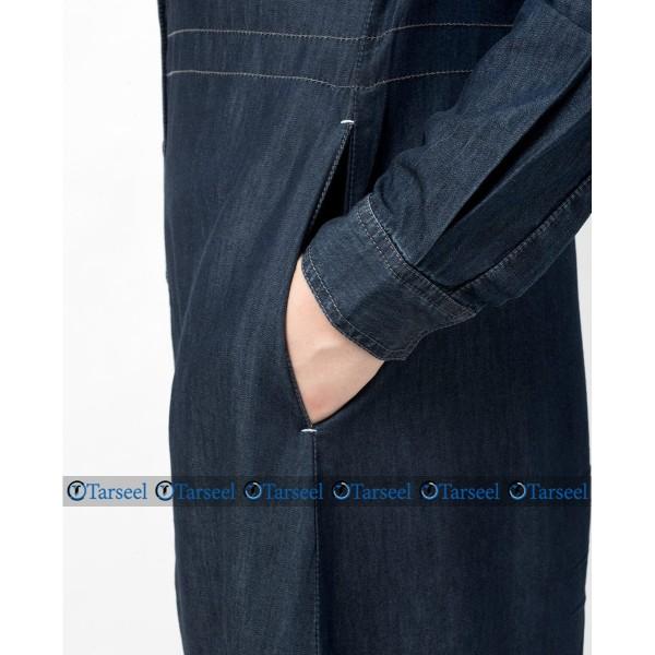 Side Belted Denim Abaya....