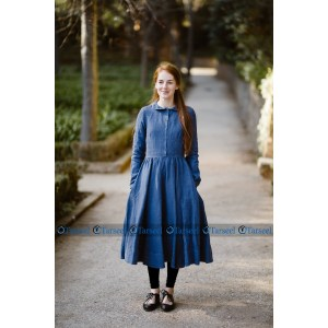 Stylish Designer Short Denim Abaya For Her