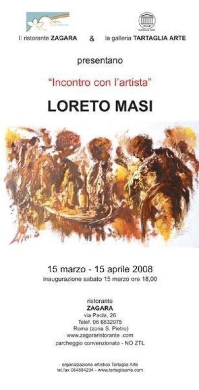 locandina mostra al ristorante dell'artista loreto masi