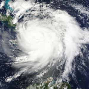 by: NASA Satellite shot of Hurricane Matthew over Florida