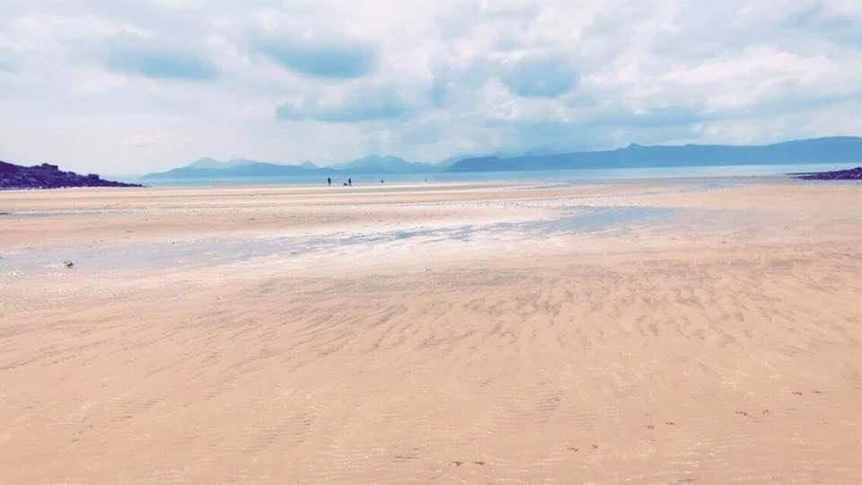 Large sandy beach at applecross NC500