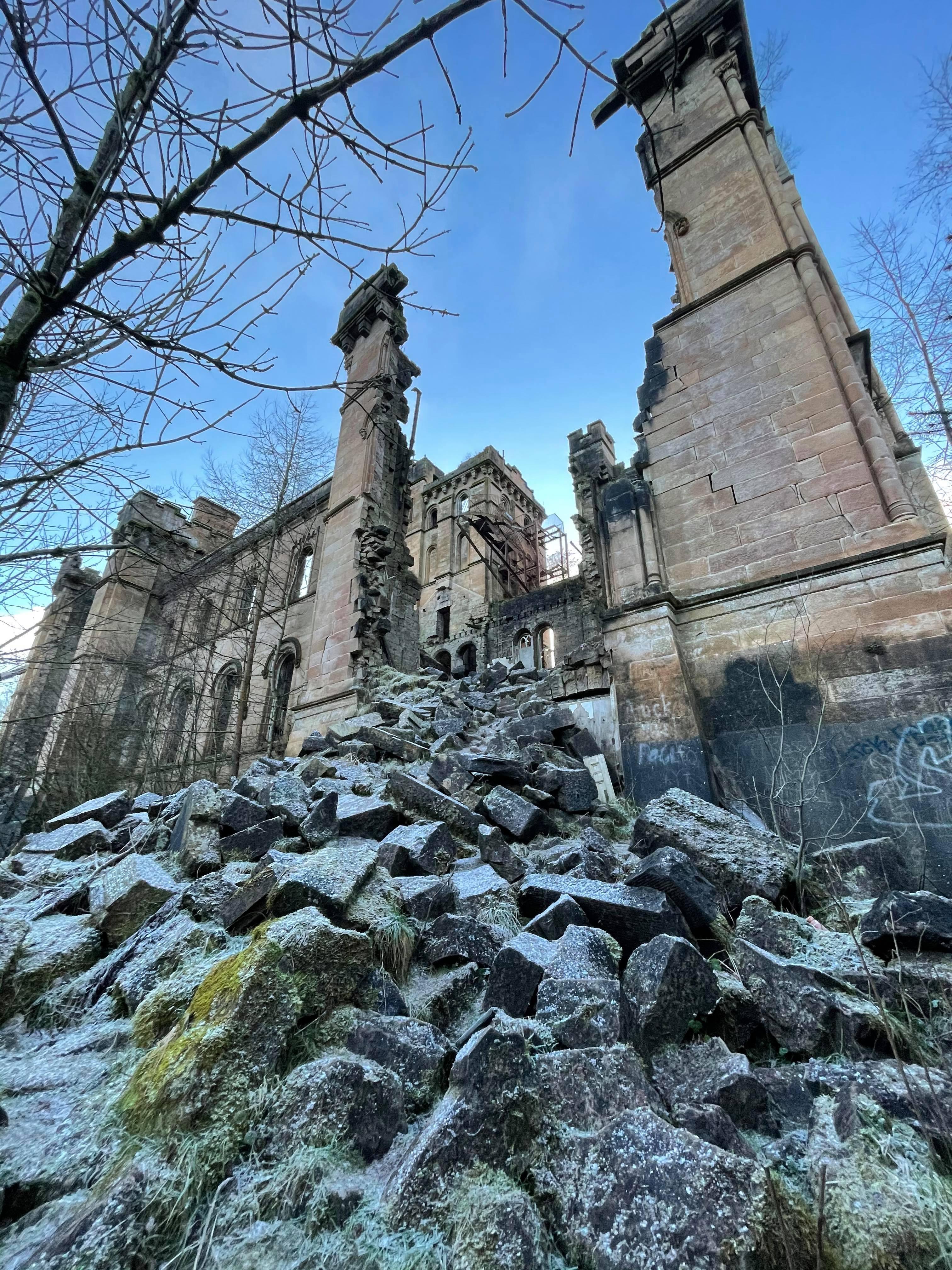 Ruined Wall Lennox Town Hospital
