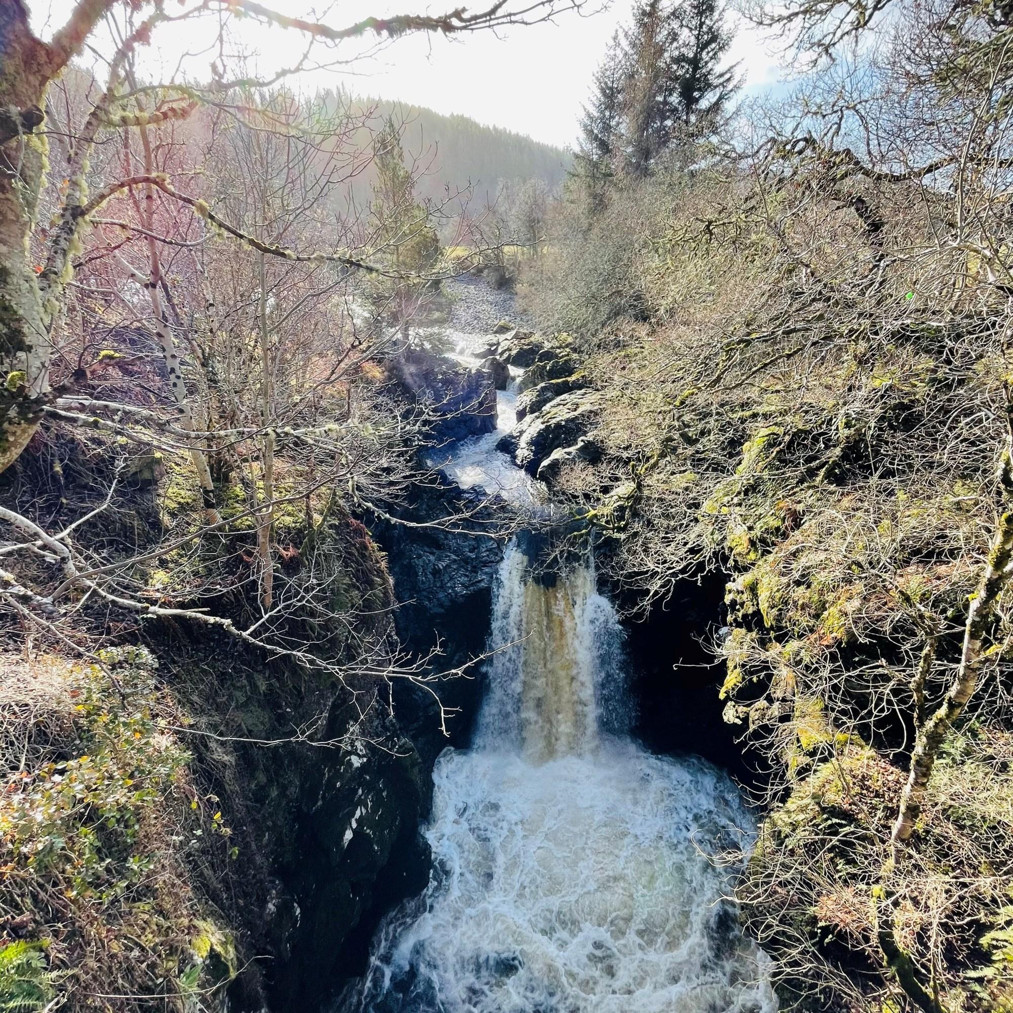 Fast Flowing Foyers Waterfall