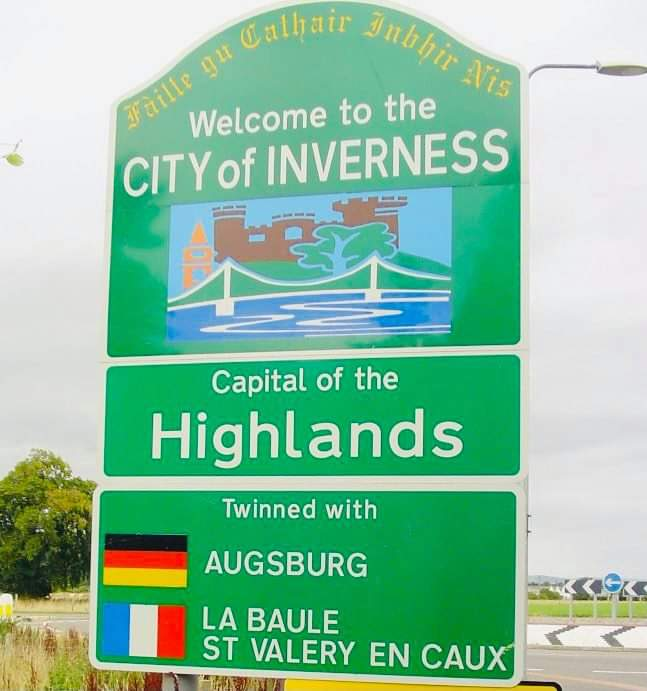 Capital of the Highlands Inverness Sign