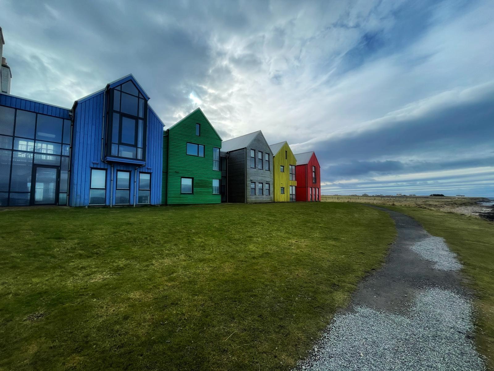 Colourful buildings at John o groats