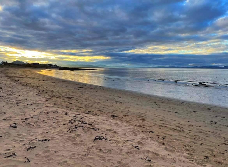 sandy beach and sunset portmahomack