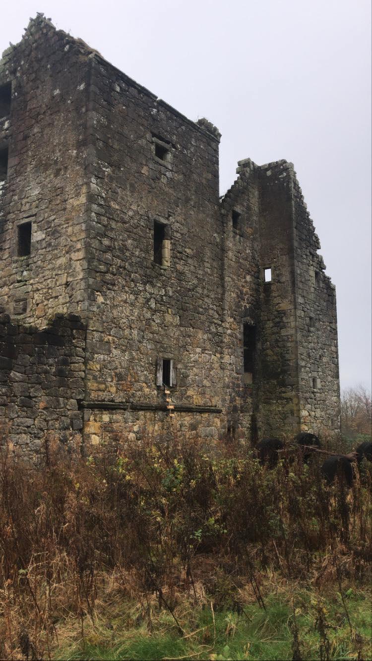 Side wall of Torwood Castle