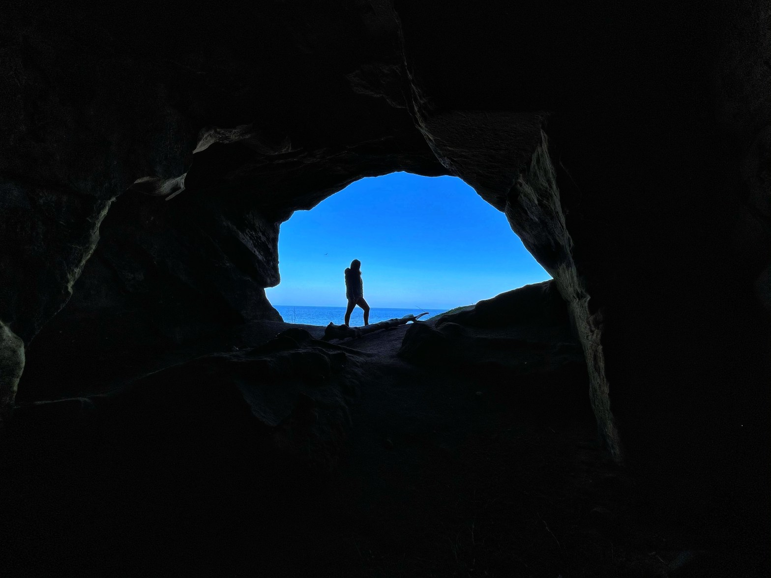 Girl at Sculptors Cave
