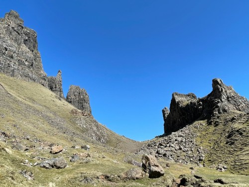 views of the quiraing on skye trail