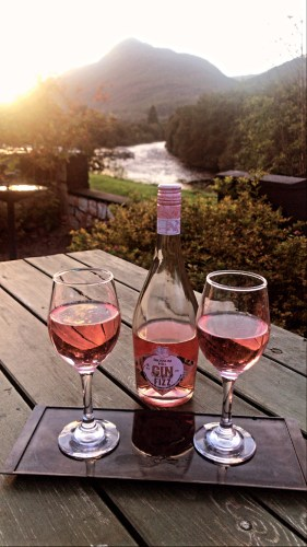 Having wine on west highland way