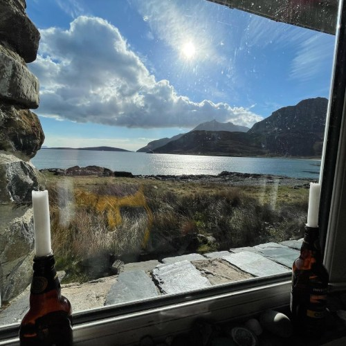 View from the bothy Skye Trail