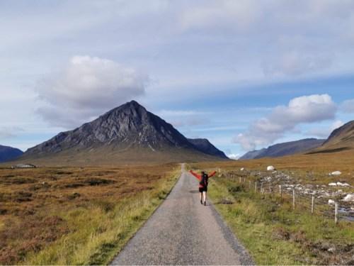 Girl on west highland way