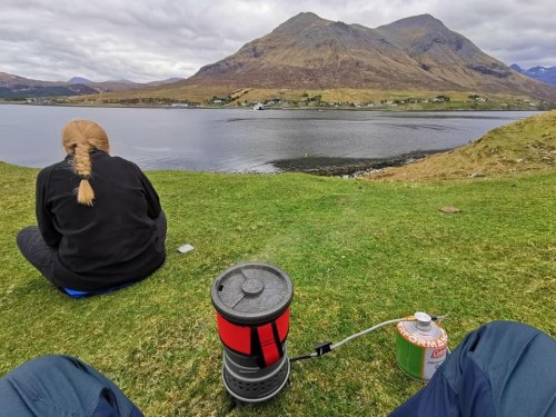 cooking lunch on the skye trail