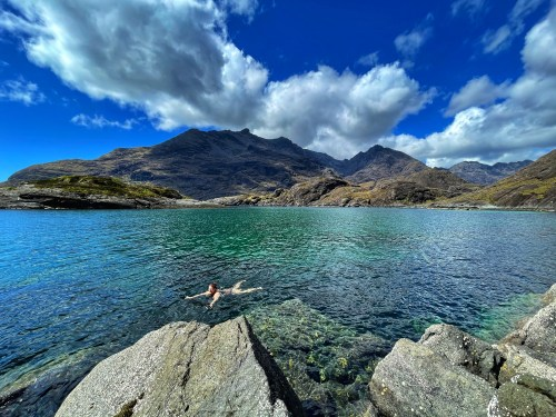 Swimming past the bad step skye trail