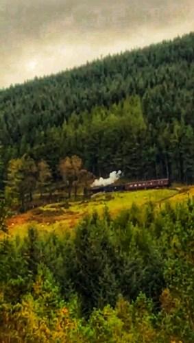Steam train on west highland way