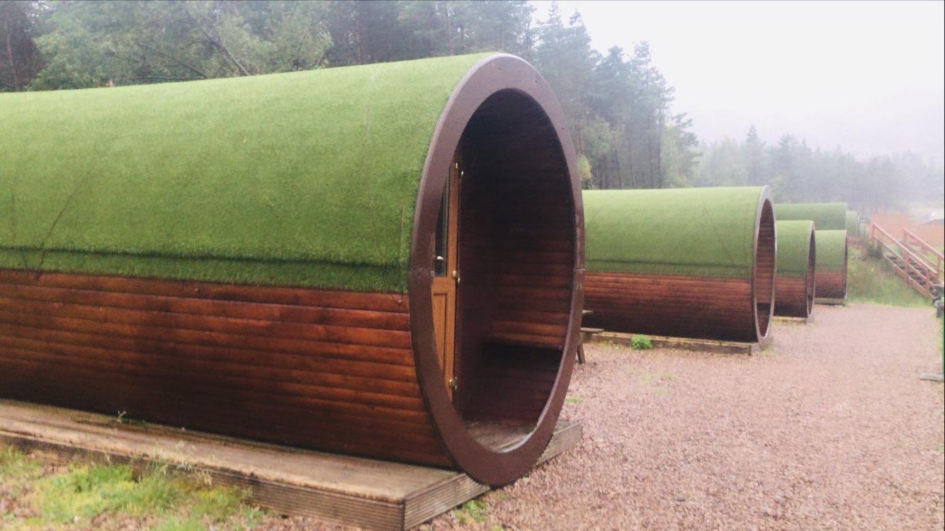 Pods at Glencoe ski centre