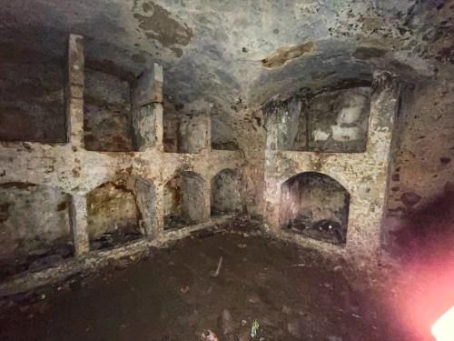 The basement at Slains castle