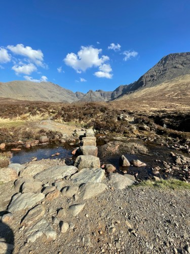 Path to fairy pools stepping stones
