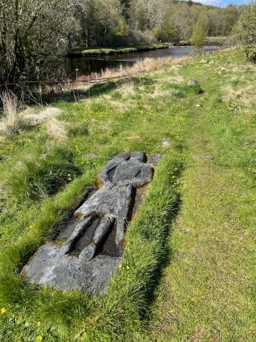 Grave of a crusader Skeabost